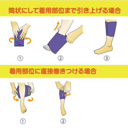 メディカルバイオラバー ふくらはぎタイプ 装着方法