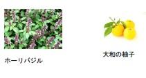 ホーリーバジル、柚子